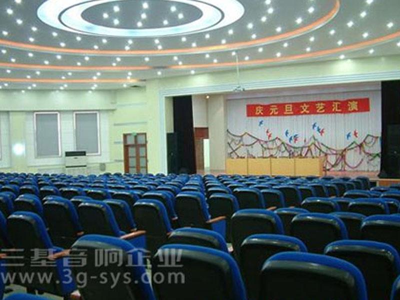 东营一中礼堂会议室音响设备安装案例